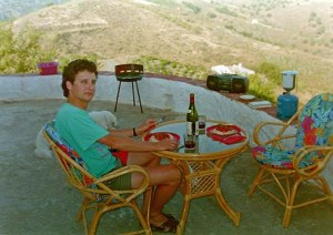 Good food, good wine, good music, and a view to die for (oh, and good woman - taking the photo). Life was good...