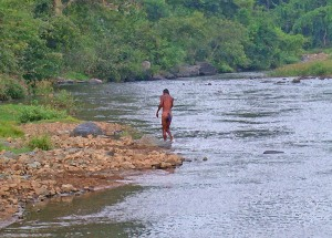 2003 India River & bather.