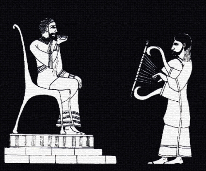 Plate 7 - David Playing Before Saul