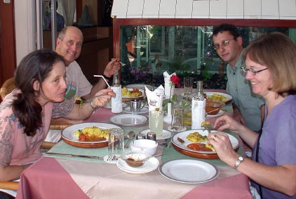 2003 India Lunch with Cathy & Richard