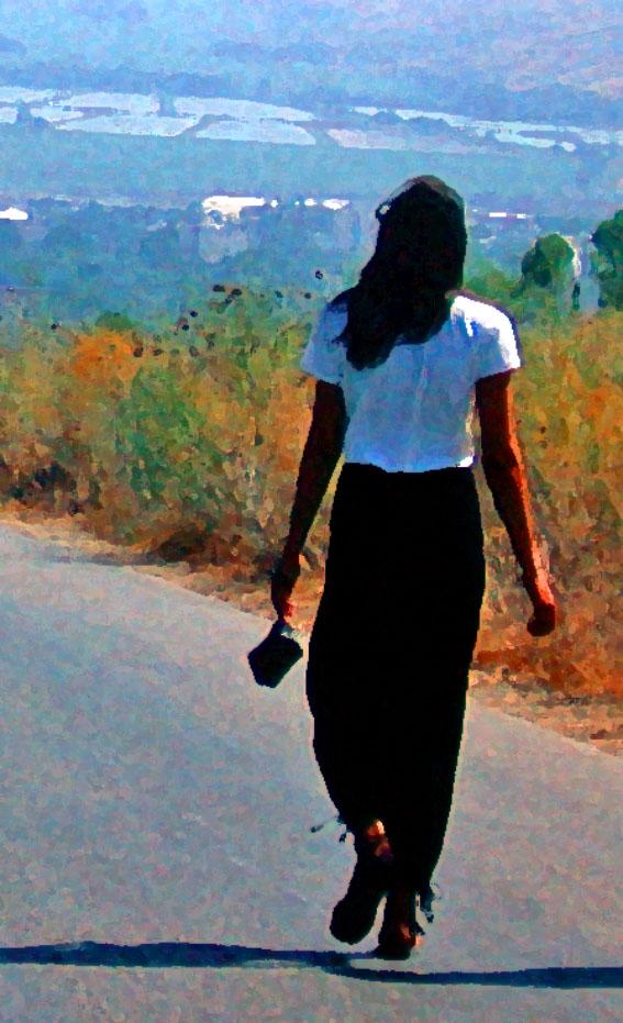 1-astrud-walking-away-tel-hai-israel-1979