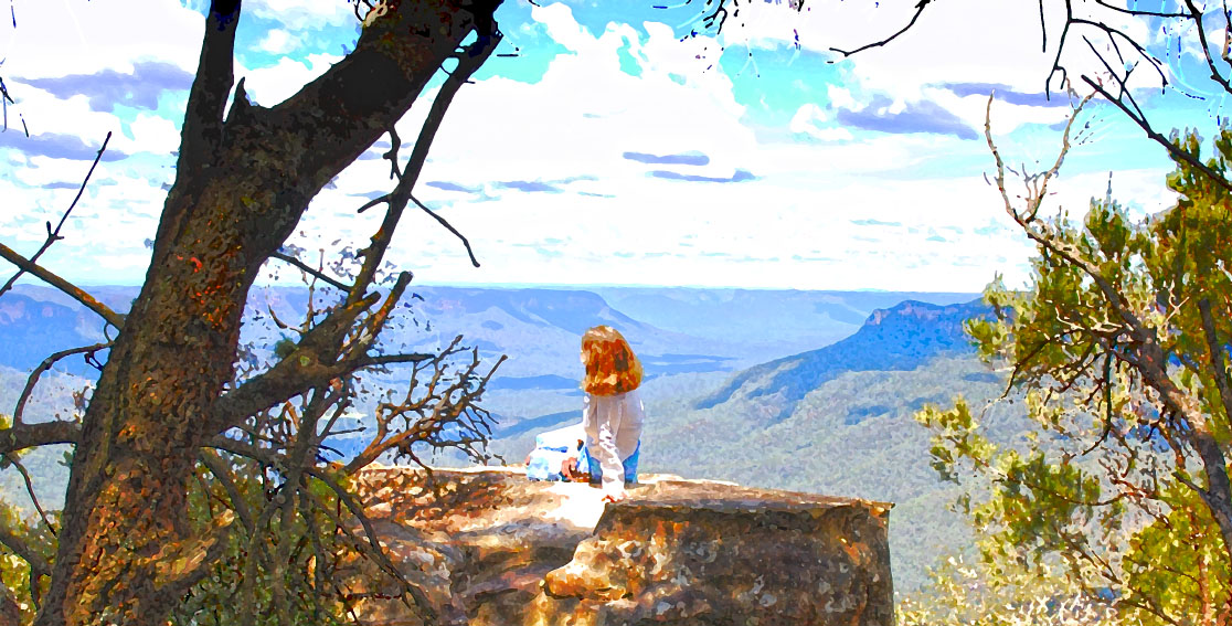 Dido at Point Sublime - Blue Mountains, NSW, Australia