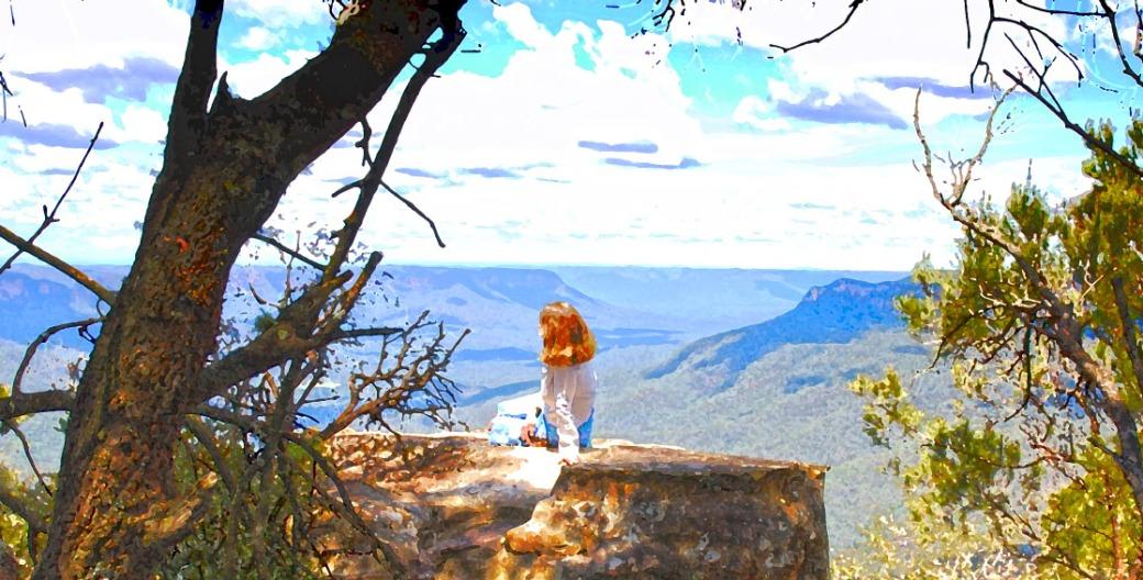 Dido at Point Sublime - Blue Mountains, NSW, Australia