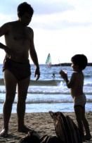 Tel Aviv Beach - Father and Son