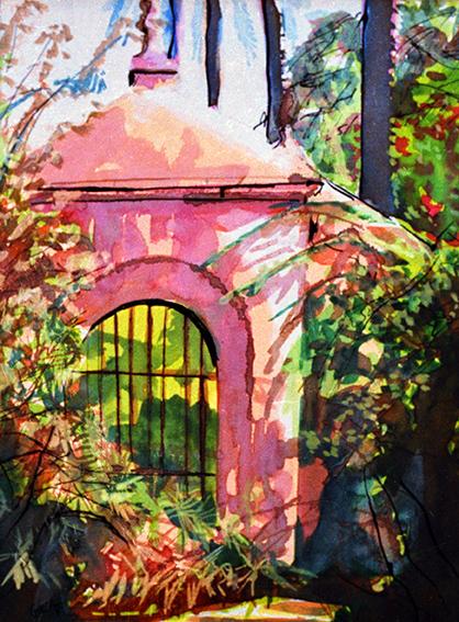 Seville Alcazar Garden Folly Arch
