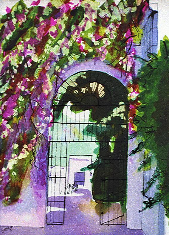 Seville Alcazar Garden Iron Gate