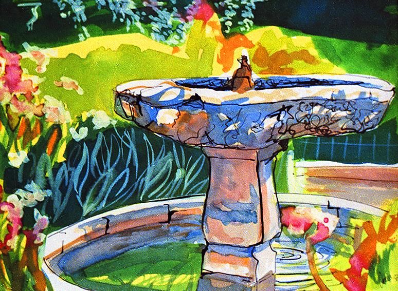 Seville Alcazar Garden Small Fountain